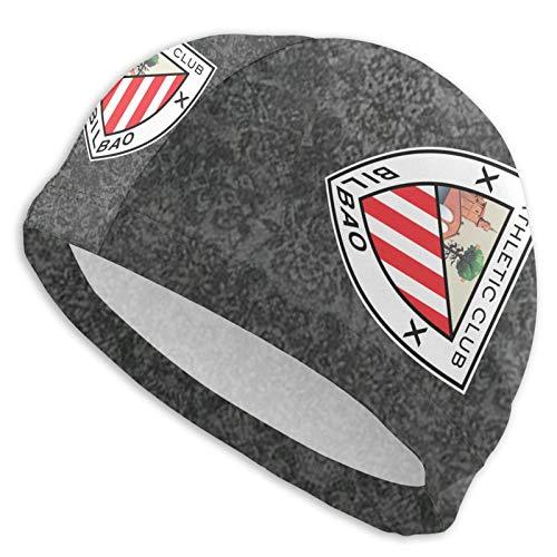 Cuffia da Bagno Stampata con Logo ATH-Letic Club De Bil-Bao, Cuffia da Bagno Traspirante Unisex Comoda e Resistente ai Raggi UV