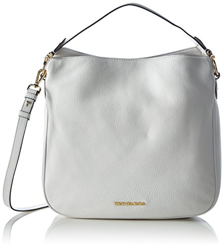 MICHAEL Michael Kors Heidi Medium Leather Shoulder Bag (Optic White)