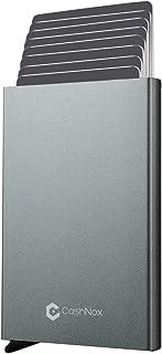 Tarjetero de Hombre Bloqueo RFID con Caja Regalo – CashNox Pequeña Cartera Tarjetero Hombre de Aluminio – Cartera Tarjeter...