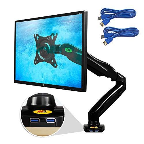 Ergosolid Supporto Professionale da scrivania, Braccio per Monitor PC, LCD e LED 43cm-69 cm/17-27, Pivot (Rotazione 360°), Certificato TÜV, Girevole, Regolabile, Nero, taglia unica