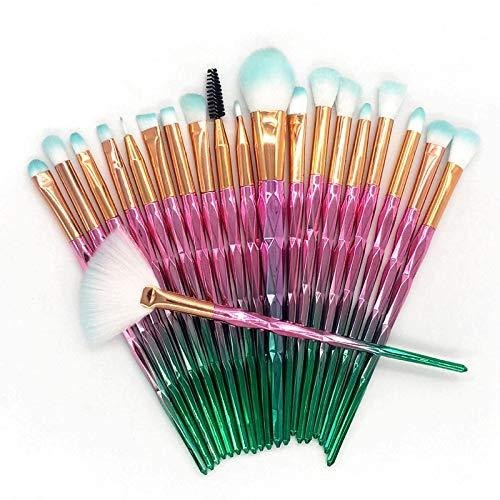 GAFAGAFA 20 Make-up Brush Sets Beauty Tools Oogborstel Fan Poeder Oogschaduw Contour Schoonheid Cosmetica Kleurrijk Voor Make-up Gereedschap