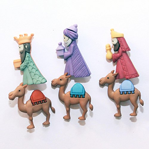 Botones Dress It Up: Collection Navidad–los tres Reyes Magos–We Three Kings