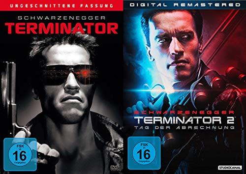 Terminator Teil 1 + 2 - Tag der Abrechnung Digital Remastered (Arnold Schwarzenegger) Uncut 2 Disc Film Set (DVD)