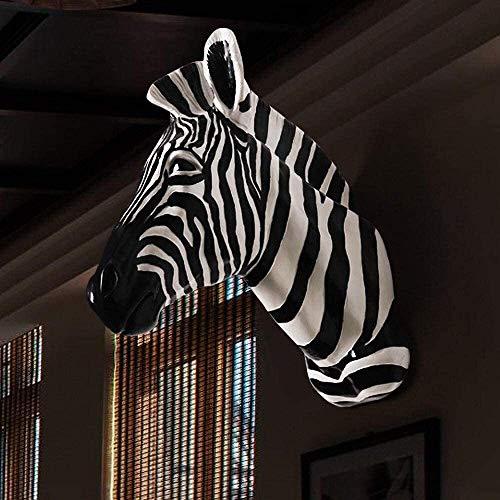 Suge Estampado de animales de resina de accesorios de pared de la cabeza hanging wall deer cabeza colgar en la pared que cuelga de la pared de la pared for colgar la cabeza de zebra blanco Decoración-