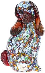 GlassOfVenice Escultura de perro Millefiori de cristal de Murano