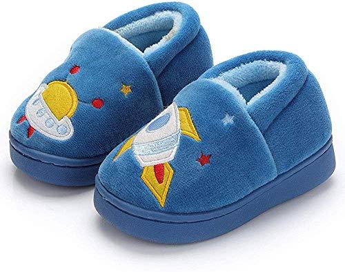 Msrlassn Pantuflas Antideslizante de Invierno para niños Zapatillas de casa de Peluche cálida para niños