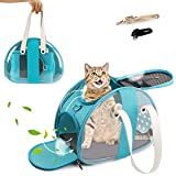FancyWhoop <span class='highlight'>Pet</span> Travel Carrier <span class='highlight'><span class='highlight'>Bag</span></span> Dog <span class='highlight'>Cat</span> Hard Collapsible Portable <span class='highlight'>Pet</span> Space Capsule Carrier Outdoor Shoulder <span class='highlight'><span class='highlight'>Bag</span></span> for Small Animals Outdoor Travel Walking-Blue