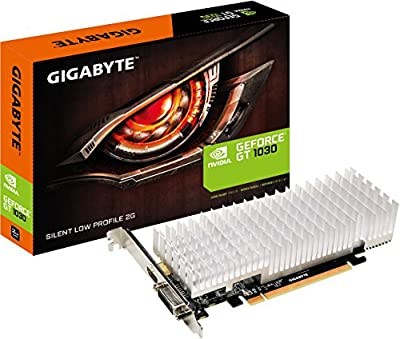 Gigabyte GeForce GT 1030 Silent Low Profile 2G, Black