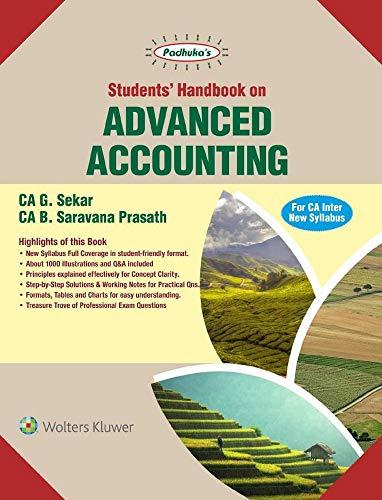 Students Handbook on Advanced Accounting: For CA Inter New Syllabus