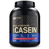 Optimum Nutrition 100% Gold Standard Casein, Proteine di Caseina a Lento Rilascio con Glutammina, Aminoacidi, Zinco e Magnesio, Fragola, 55 Porzioni, 1.82kg, il Packaging Potrebbe Variare