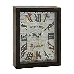 Deco 79 Wood Wall Clock, 12 by 16