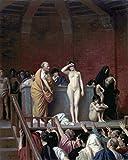 Kunst für Alle Impresión artística/Póster: Jean-Leon Gerome Slave Market in Rome - Impresión, Foto, póster artístico, 80x100 cm