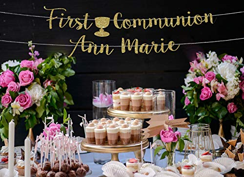 Banner de primera comunión personalizado para primera comunión guirnalda de primera comunión