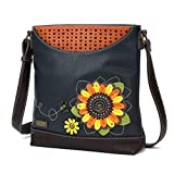 Chala Handbags Sunflower Sweet Messenger Bag Purse, Flower Lover