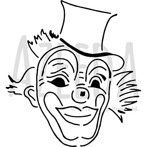 Azeeda Groß A2 'Clowngesicht' Wandschablone / Vorlage (WS00035237)