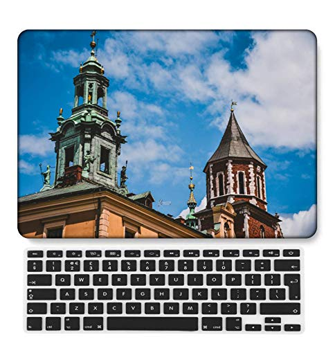 GangdaoCase Plastic Ultra Slim Light Hard Shell Case Cut Out Design Compatible New MacBook Pro 15 inch with Touch Bar/Touch ID with UK Keyboard Cover A1707/A1990 (Flower A 0588)