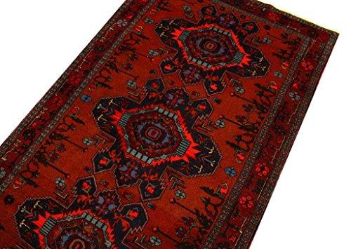 Tela-Teppich Zelkova Tapis Azerbaijan 207 x 121 cm 100% Coton Main geknüpft Rouge