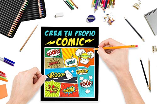 Crea tu propio cómic: 100 originales plantillas de cómics en blanco para adultos, adolescentes y niños