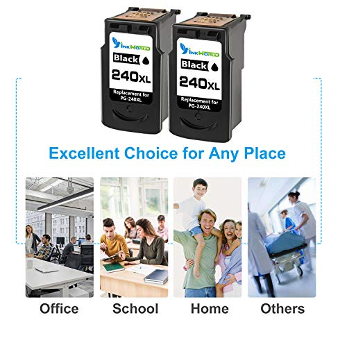 InkWorld Remanufactured 240XL Ink Cartridge Replacement for Canon PG-240 XL Black to Use with Pixma TS5120 MG3620 MG3520 MX472 MG3220 MX452 MX532 MX512 MG2120 MX432 MG3222 MG3122 MG2220 Printer 2-Pack Photo #2