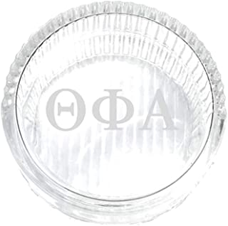 M&D Sorority Gifts Theta Phi Alpha Jewelry Box & Keepsake Glass Tray with Greek Letters