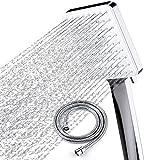 USNASLM Cabeza con manguera de 150 cm Set 6 Rociar alta presión impulso mano ducha de acero inoxidable para masaje SPA