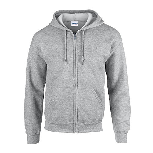 Gildan - Kapuzen Sweat-Jacke 'Heavyweight Full Zip' L,Sport Grey