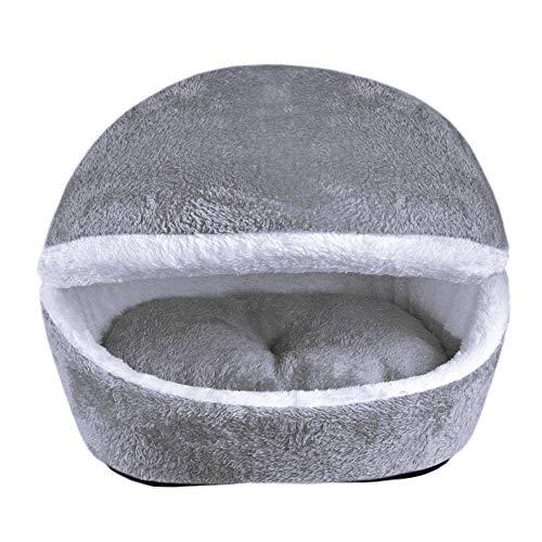 Zanttec katten- of hondenbed, kattenbed, kattenbed, kattenbed, wintervoetenzak, warm en beweegbaar, comfortabel, grijs