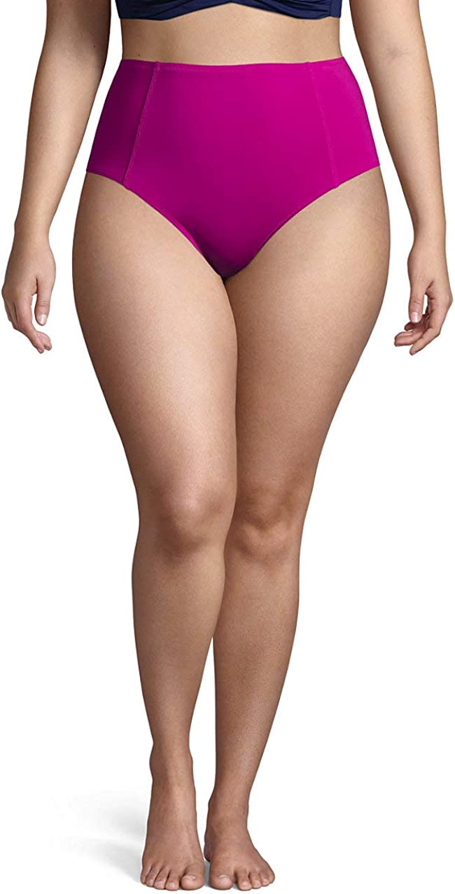 Lands' End Women's Retro High Waisted Bikini Bottoms