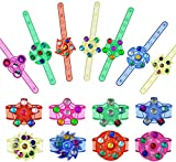 Effacera Party Favors Goodie Bags 20 Pack, Fidget Spinner Toys, Led Light Up Bracelet, Glow in The Dark Halloween Party Supplies, Christmas Classroom Prizes Box, Return Gifts for Kids Birthday