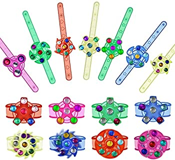 Effacera Party Favors Goodie Bags 20 Pack Fidget Spinner Toys Led Light Up Bracelet Glow in The Dark Halloween Party Supplies Christmas Classroom Prizes Box Return Gifts for Kids Birthday