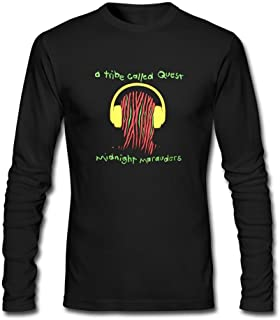 WANTAI Men's A Tribe Called Quest Vector Long Sleeve Cotton T Shirt