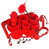 10 pcs/Set Âdülť Śëx ťÔys ŚëxΥ Adjustable Rêšt-ŕáîntš Accessory Hândcuffs Collâr Blindfold Whïp Mouth Plug BDŚM Bondâge Cöuples Game Toys Valentine's Day Role Play Gift