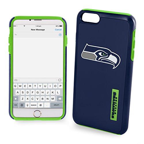 Forever Collectibles NFL Seattle Seahawks Auswirkungen TPU 2teilige Dual Hybrid iPhone 7/6/6S Cover–11,9cm Bildschirm nur