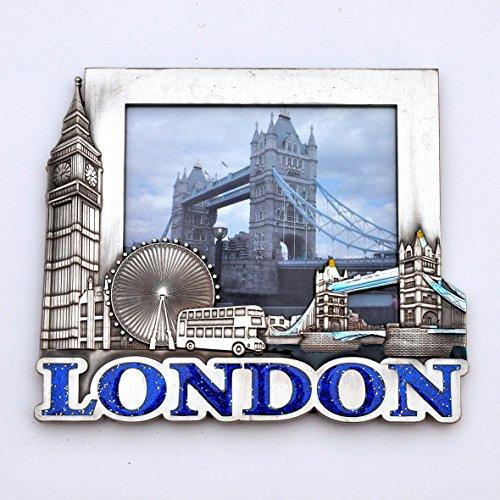 I Love London Fotorahmen, Bilderrahmen, Metall, Souvenir London Icons Fotorahmen, Bilderrahmen, Metall, Big Ben, London Eye, Tower Bridge