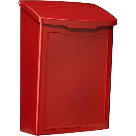 Architectural Mailboxes 2681R Marina Wall Mount Mailbox, Small, Red