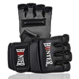 HUNTER MMA Gloves, UFC Gloves, Training Boxing Gloves, Sparring Gloves, Punching Bag Gloves, Kick Boxing Gloves, Perfect MMA Gloves Men (Synthetic PU Leather Pair) (X-Large)