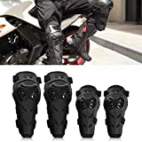 Rodilleras Moto Coderas para Hombre - 4 Piezas Motocross Rodilleras de protección Coderas Motocicleta Equipo de Protecciones para Moto K.T.M BMW, Enduro, Carreras, Ciclismo (Negro)