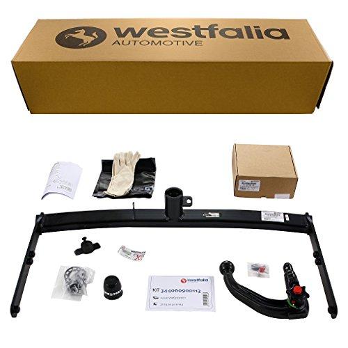 Westfalia Abnehmbare Anhängerkupplung für Seat Ibiza ST/Kombi / 3-/5-Türer (BJ 07/08-07/15) im Set mit 13-poligem fahrzeugspezifischen Westfalia Elektrosatz