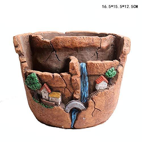 Cartoon plant pot Cement Succulente Plant Pots Cactus Plant Pot Bloempot Voor Thuis En Kantoor