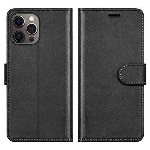 ykooe Funda para iPhone 12 Pro MAX, Protector PU Cuero con Tapa Carcasa para iPhone 12 Pro MAX (Negro)