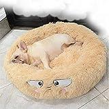 UTOPIAY Lustig Hundebett Rundes Haustierbett Cat Donut Cuddler Deep Sleeping Nesting Im Winter,Beige,M