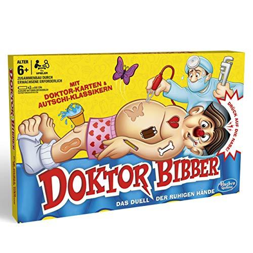Hasbro Gaming- Dr. Bibber – Il duello delle Mani tranquille, Classico Gioco prescolare, B2176398
