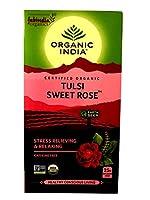 オーガニック インディア&ファブインディア トゥルシー スウィート ローズ TULSI 【 SWEET ROSE 】 カフェイン無し 紅茶 25袋入り [並行輸入品]