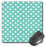 girly desk accesory aqua blue polka dot mousepad
