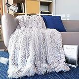 Faux Fur Throw Blanket 50''x60'',YST Queen Soft Fluffy Blanket Plush...