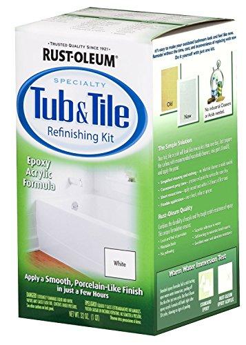 Rust-Oleum 7860519 Tub and Tile Refinishing 2-Part Kit, White 2 Pack
