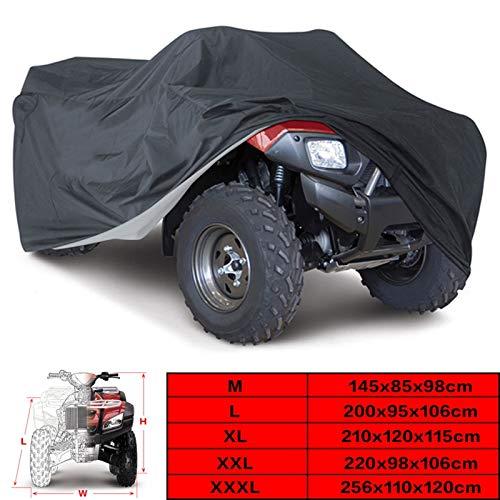 NA Telo Copriauto, Copertina Impermeabile da Moto Universale Black 190t Quad Bikes ATV Dimensione M L XL 2XL 3XL D15 (Size : 200x95x106cm)