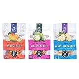 JALI FRUIT CO. - Sun Dried Fruit Variety Pack - Healthy Snacks For Adults - Vegan Snacks - Gluten Free Snacks - Travel Snacks - Dried Fruit No Sugar Added - Dehydrated Fruit - 3 Pack - 3.5oz Each