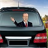 車のリアウインドワイパー用ステッカー防水3Dステッカー米国大統領選挙バイデンは、グルーマークス車のステッカー車のデコレーションなしで削除することができます