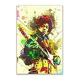Kunstbruder Jimi Hendrix Guitar Color (div. Größen) -